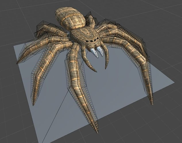 ready rigged spider blend
