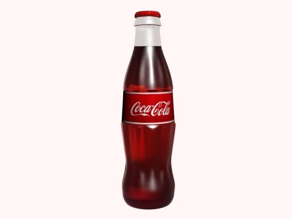 coca cola bottle 3d max