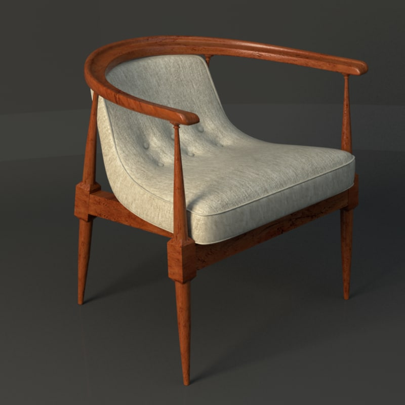 3d model century blanket chair