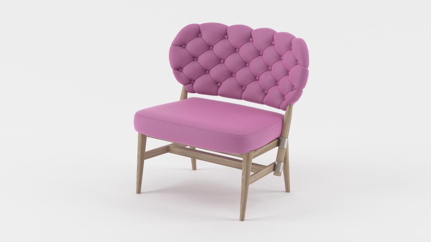 3d armchair modern interior
