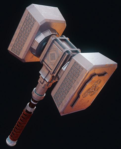 3d model hammer