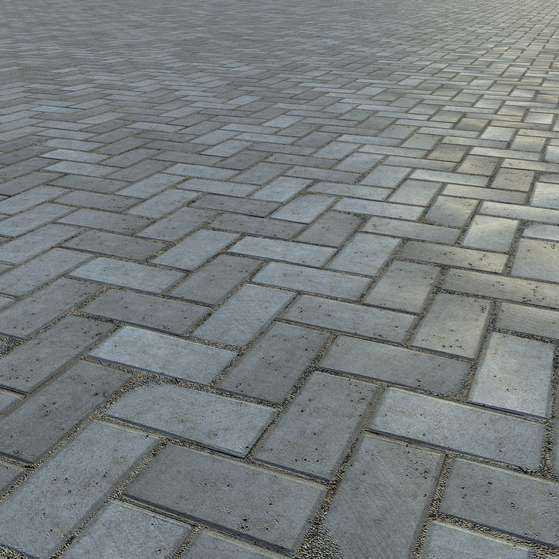 paving bricks 3d model