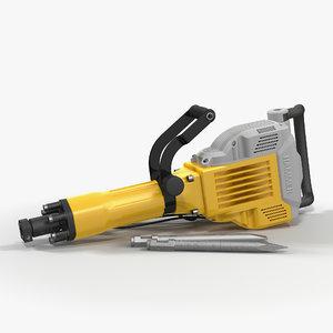 electric demolition jack hammer 3d c4d
