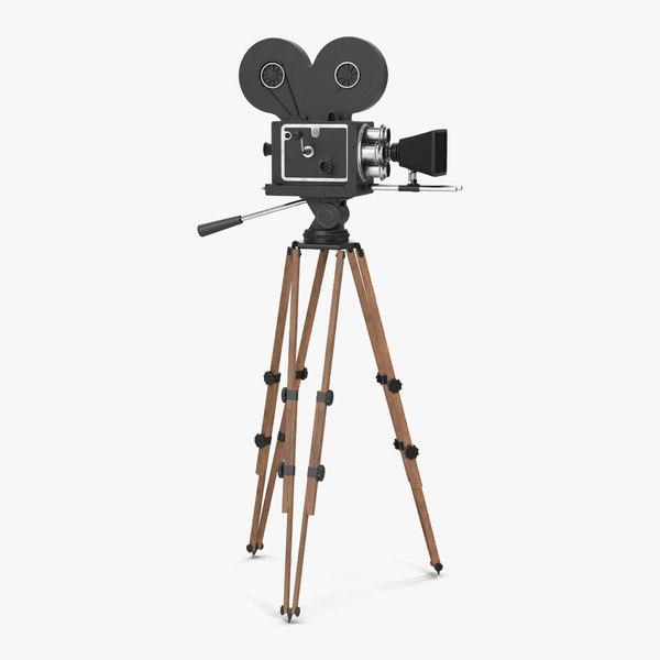 3d model of vintage video camera tripod