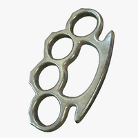 ready brass knuckles pbr 3d model