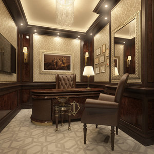 scene small private office 3d max