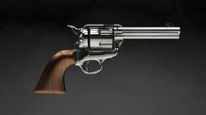 gun similar colt peacemaker 3d obj