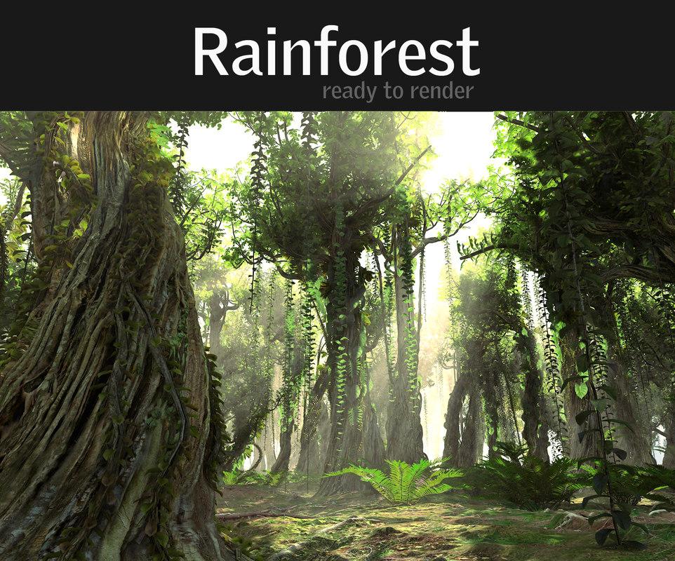 3d model rainforest ultra hd