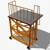 3d rolling industrial scaffolding