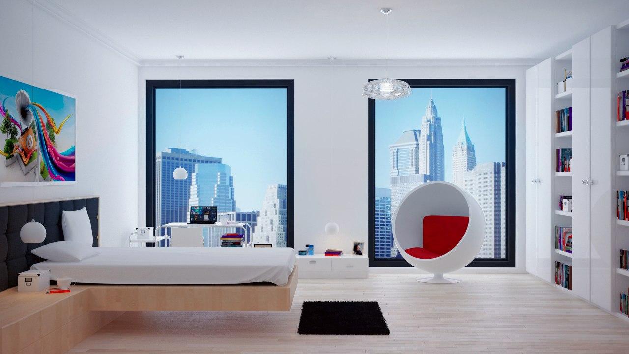 3d bedroom interior