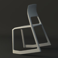 3d model of tip ton chair