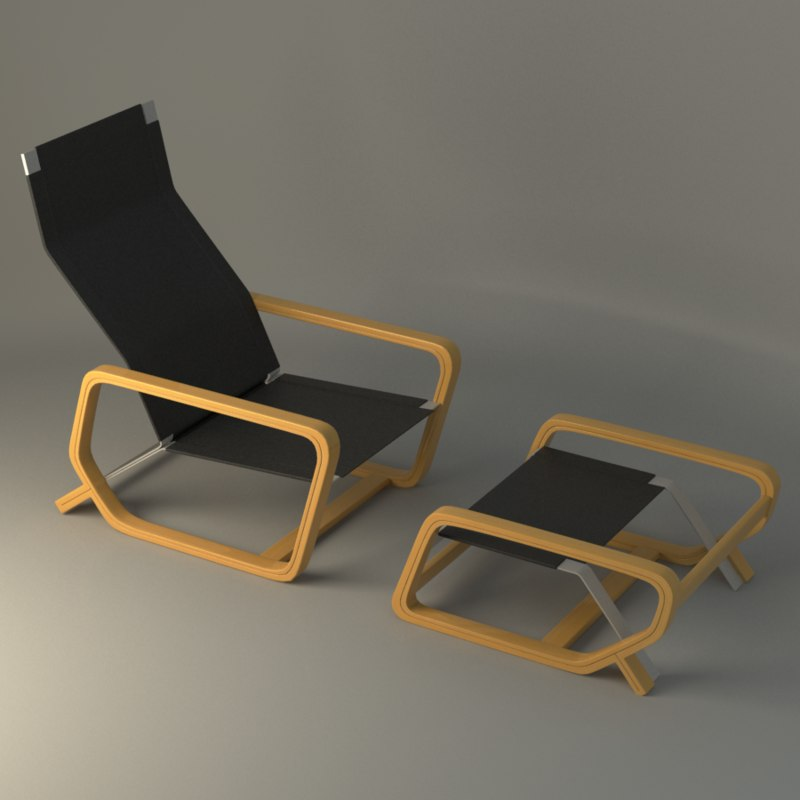 toro lounge chair 3d model