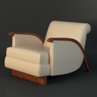 3d jacques emile ruhlmann chair