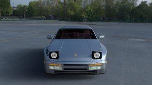 3d model porsche 944 turbo s interior