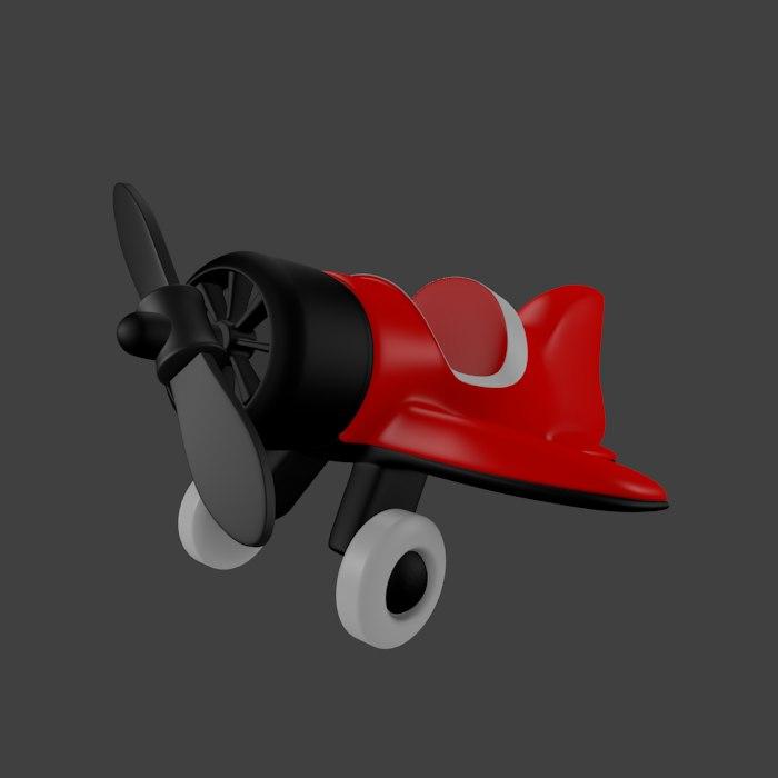 3d cartoon airplane toy