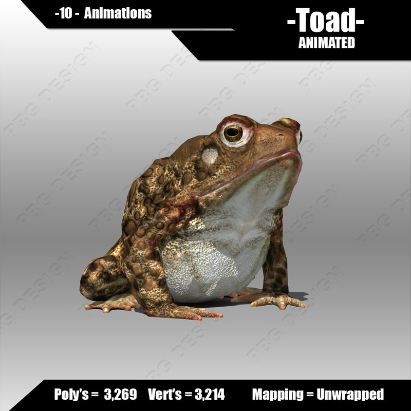 obj toad animations