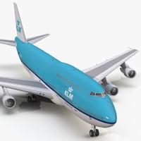 boeing 747-300 klm 3d model