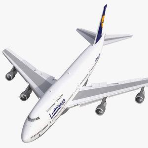 3d max boeing 747 300 lufthansa
