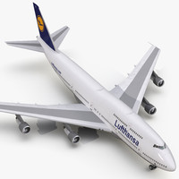 Boeing 747-300 Lufthansa 3D Model