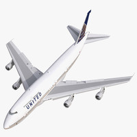 3d boeing 747 300 united