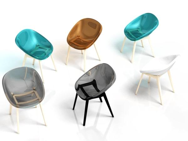 3d chair bloom
