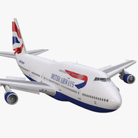 max boeing 747-300 british airways