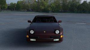 3d model porsche 944s interior hdri