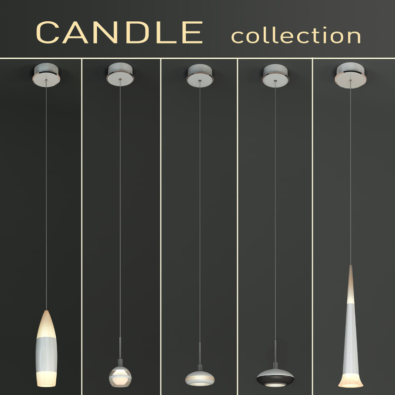 3d luminaires candle model