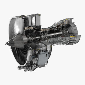 turbofan engine cfm international 3d max