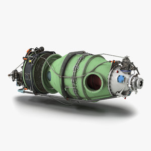3d turboprop aircraft engine pratt model