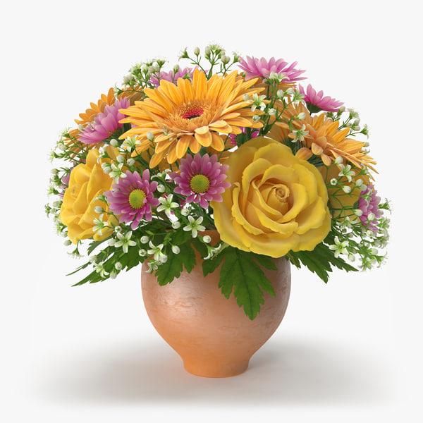 flowers vase 3d model