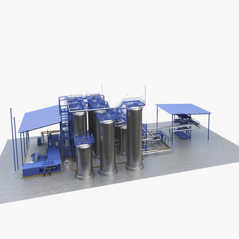 3d model oil equipment