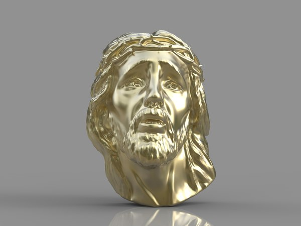 3d model pendant jesus face