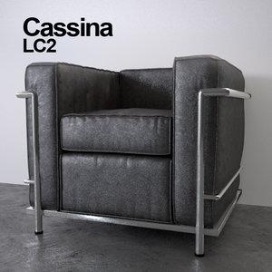 cassina le corbusier lc2 3d max