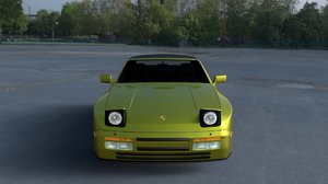 3d model porsche 944 cabriolet interior