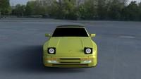 3d porsche 944 convertible hdri