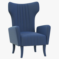 3d brabbu davis chair model
