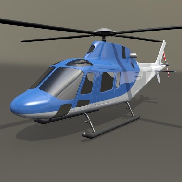 3d agusta aw119 koala copter model