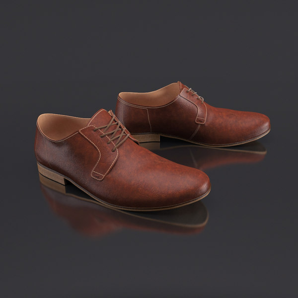 3d mens leather shoes s model