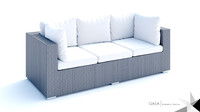 3d model beliani wicker lounge set