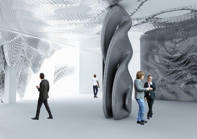 futuristic interior 3d 3ds