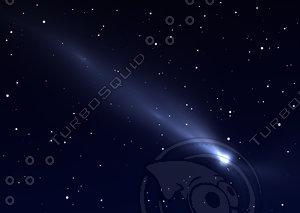 Flying comet