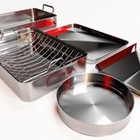 set metal dishes 3d max