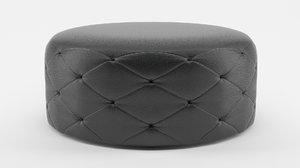 furniture pouffe pouf 3d model