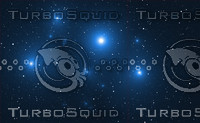 Space background with blue bright stars