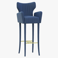 3ds brabbu davis bar chair