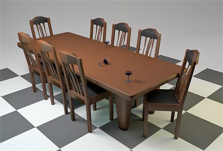 3d table margarita glass