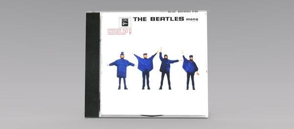 beatles cd case obj