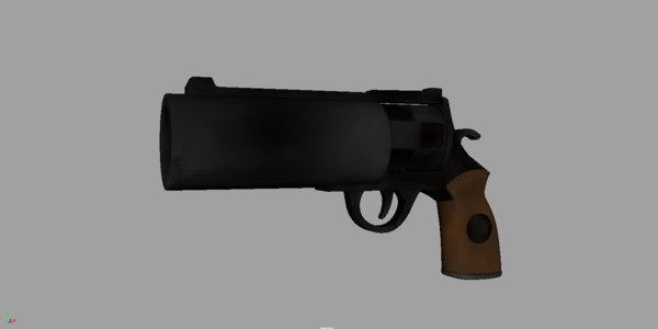 3d model old revolver