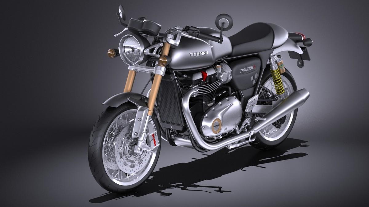 3d model triumph thruxton r